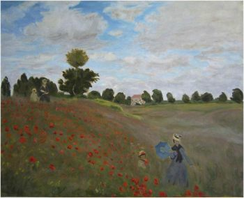 Reproduction de Claude Monet, les coquelicots